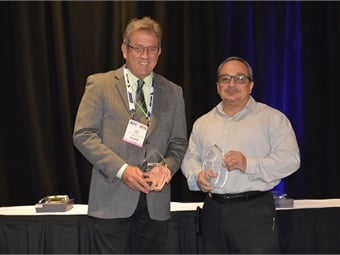 Michael Hubbell and Getty Modica were the winners of this year's inaugural Transit Maintenance Director of the Year Awards.