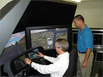 Though an investment, James River's Stephen Story feels training drivers on a simulator enables them to make decisions instinctually rather than on the fly.