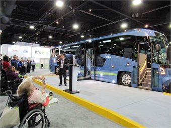 Motor Coach Industries (MCI) unveiled its new commuter coach model MCI D45 CRT LE featuring improved accessibility.