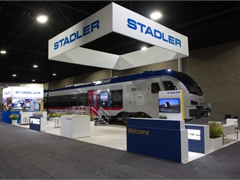 Stadler showcased its new FLIRT trains, which are scheduled to become a part of TEXRail's commercial fleet in December 2018.