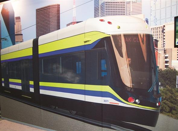 Liberty Streetcar Light Rail Vehicle Platform Rail