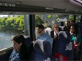 Bridj stemmed from a transit network George designed to take college students home for breaks called BreakShuttle. The system is now the largest provider of collegiate academic break transit services in the country.