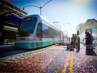 The extension added approximately 5,000 new riders and attracted additional development to downtown Mesa.