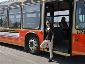 In September, the City of Belleville, Ontario started operating a new service designed to let riders order buses, on demand, to take them to and from any bus stop. City of Belleville