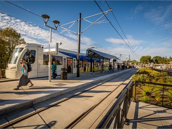 TriMet's MAX Light Rail System consists of five different lines that serve 97 stations covering 60 service miles.