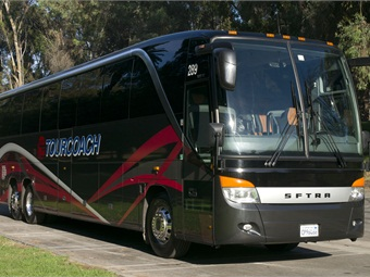 TourCoach added 12 new vehicles in 2014, including a new Setra S 417, featuring club corner seating and a TopSky glass roof.