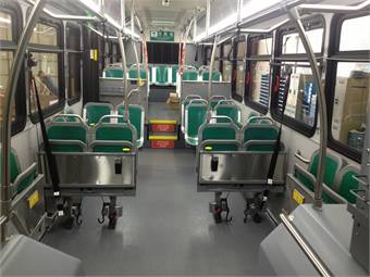 A recent trend in the industry has been a move to non-upholstered seating, including at Oakland, Calif.-based AC Transit, whose new buses include 4ONE's CitiPro seating solution.
