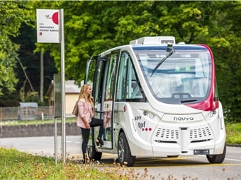 In Fribourg, Switzerland, the public transit agency TPF launched last-mile services from a bus station to the mixed-use Marly Innovation Center. TPF