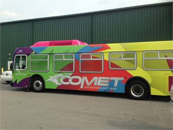 The COMET's reinvigorated bus fleet has received rave reviews from within the community and throughout the transit market.