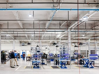 The acquisition and renovation of the new facility, located across the street from its original site, took just 10 months and is on track to construct an additional building, which will add 200,000 more square feet to the company's footprint. USSC Group