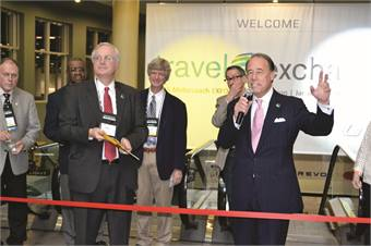 UMA board of directors Chairman Bill Allen (left) and UMA President/CEO Victor Parra opened up the show floor.