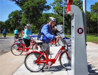 The T's bike sharing members can sign up for an annual, 30-day, 7-day, 3-day, or 24-hour membership through Fort Worth Bike Sharing's website.