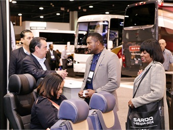 UMA Expo 2016 gave operators the chance to see all the latest products on the show floor, including motorcoaches, on-board technologies and seating.  Courtesy UMA