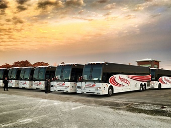 Over the years, Holiday Tours has grown to a 74-motorcoach charter and tour business that prides itself on creating a family-like atmosphere amongst its employees, which helps drive the company's prolonged success.