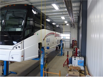 A review of the company's maintenance program,Barons currently passes roadside inspections at a rateof 99.4, which ranks in the top 1 % nationally. Barons Bus