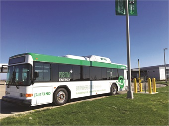 The Indianapolis Airport Authority currently operates nine all-electric Complete Coach Works buses on its shuttle routes. 
