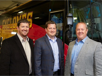 Scott, Pat and Jeff Greteman (L to R) learned the business through hands-on experience — driving, washing and maintaining the family fleet from the early years on.