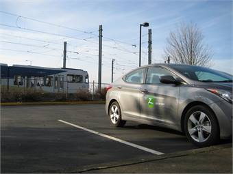 TriMet added two Zipcars at three park-and-ride locations along its MAX rail lines for a total of six cars.