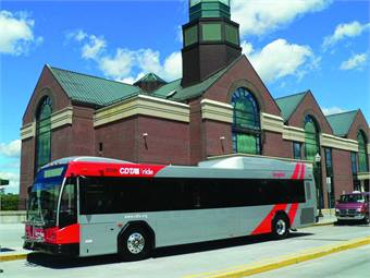 CDTA unveiled the Albany, N.Y., area's first BRT line, Bus Plus, in early April 2010.