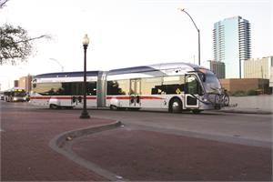 Nearly all survey respondents selected a low-floor vehicle style, and nearly three-quarters went with enhanced aesthetics. Two-thirds chose an articulated bus style. Slightly more than one-half cited passenger amenities.