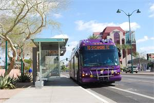 Valley Metro's Mesa Main Street LINK BRT service began operating in 2008. It has since provided more connectivity to the light rail, schools, shopping and other attractions.