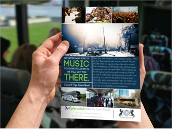 Along with a set of videos covering several different niche markets, GoMotorcoach also offers collateral, including post cards and posters, for marketing to those niche groups.