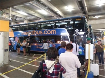 Stagecoach, owner of Megabus and Coach USA, reported a 3.2% drop in its North American revenues, which included its charter and school bus service, for the six months between April and October 2018.