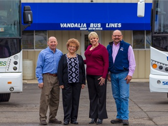 Since 1975, the Streif family (from left to right) Dennis, Judy, Melissa Kaemmerer and Dale have maintained a safe and well-respected operation. Bruce Robertson Photography 2016