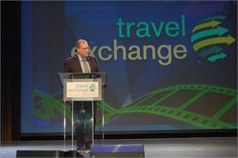 CBS News Travel Editor Peter Greenberg touted the thriving tour and travel industry, while urging the crowd to remain competitive on overall value instead of simply offering low rates, so the trend can continue.