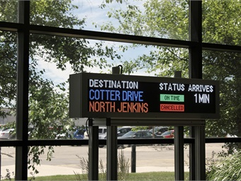 With Daktronics' signage system, transit agencies have the ability to change a sign's message at any point in time.