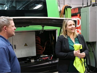 During Butler's tenure, Lextran moved to a new headquarters and added both CNG and electric buses to the agency's fleet. Photos courtesy Lextran