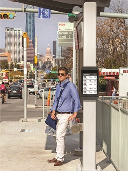 Connectpoint's Digital Bus Stop signs are managed remotely via their content management system, CPAM™. Connectpoint