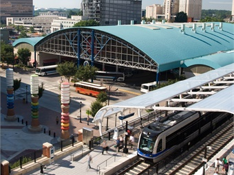 CATS will soon open an extension of the LYNX Blue Line and has made great strides in the development of a multimodal station -- the Charlotte Gateway Station. Photo: CATS
