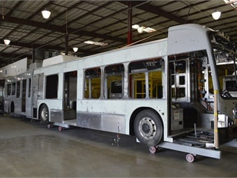 With the first 29 electric buses set to be delivered in the next year, BYD is constructing AVTA's 16 commuters and 13 60-foot articulated buses at its plant in Lancaster, Calif.