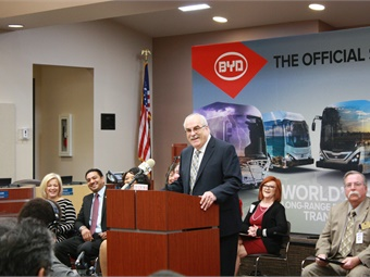 In February, AVTA's Executive Director Len Engel announced the agency's intent to become the first agency to boast a 100% electric bus fleet.