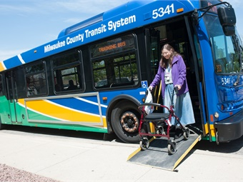 In 2016, MCTS provided a record 104,317 rides on its fixed-route system to customers that required securement assistance.