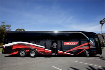 Another new feature to the Setra S 417 is a second door option.
