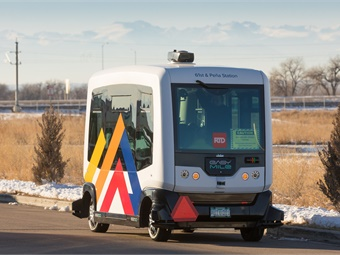 Transdev will operate the EasyMile autonomous shuttle for the RTD in a new route called 61AV. The project's main goal is to assess the viability of autonomous services in providing first- and last-mile connections to and from transit.