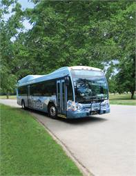 A fleet of 40-foot Gillig hybrid-electric BRT buses help RTD attain their sustainability goals.