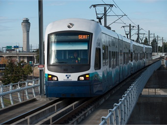 The I-90 Track Bridge is part of the East Link project, a 14-mile extension of Sound Transit's Link light rail system from downtown Seattle to Redmond, Wash. Sound Transit