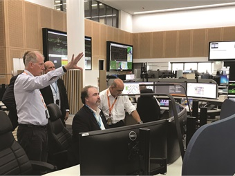 A human-centered design approach was applied to the control room layout and operator-specific workstations.