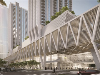 MiamiCentral, which encompasses nearly three million square feet, will include retail, offices, residences, the Brightline train service, and ample parking, while serving as a connector between Brightline's passengers and Miami's existing public transport systems.
