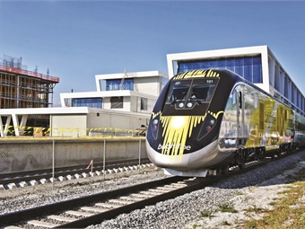 Brightline trains, manufactured by Siemens, feature level boarding and utilize automated retractable platforms that are integrated into the train car door systems.