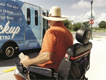 Below: Microtransit services are often appealing for areas where city leaders are looking for ways to enhance regional mobility.