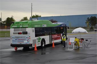 In the 40-foot bus competition, Paul Klimesh of Iowa-based Ames Transit Agency was named best driver in North America, beating out 50 other competitors to win first place.