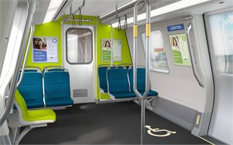 Based on customer feedback, the train interior layout is designed to maximize seating, openness and comfort within the available space.