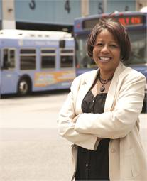 Stephanie Negriff rose through the ranks of the Big Blue Bus (BBB) to become its director in August 2002.