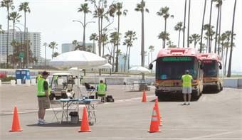 Tensions ran high for many competing in the 40-foot competition, since Long Beach Transit uses a 42-foot New Flyer model.