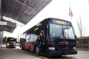 National Express Transit Corp. streamlined services for N.C.'s Piedmont Authority for Regional Transportation by using two facilities instead of one to reduce deadhead.
