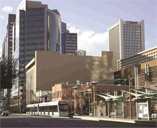 Valley Metro Rail's Phoenix West project (rendering shown) is an 11-mile planned extension of the initial 20-mile starter light rail line. (Photo courtesy of InfraConsult.)